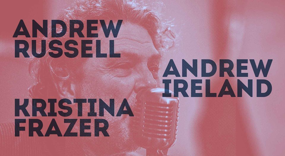 Andrew Russell, Andrew Ireland & Kristina Frazer | Hotel Blue