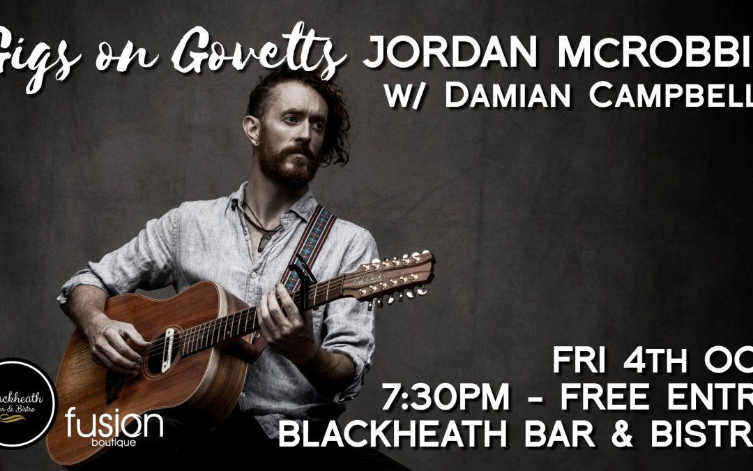 Gigs on Govetts – Jordan McRobbie + Damian Campbell | Blackheath Bar & Bistro