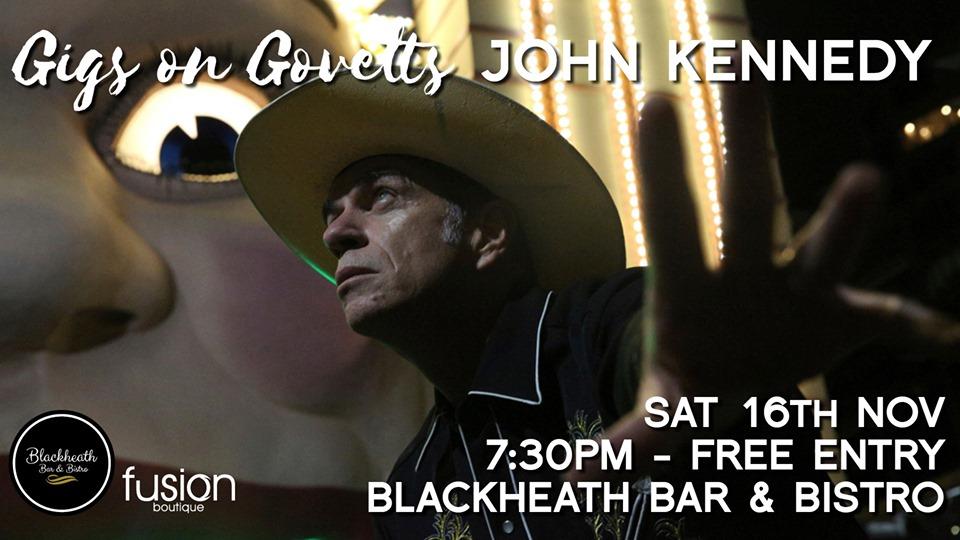 Gigs on Govetts – John Kennedy Solo (Sydney) | Blackheath Bar & Bistro