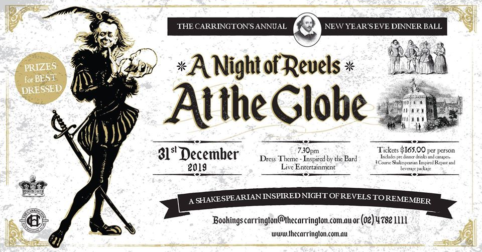 New Years Eve Ball – A Night at the Globe | The Carrington Hotel