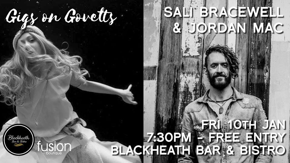 Gigs on Govetts – Sali Bracewell & Jordan Mac | Blackheath Bar & Bistro