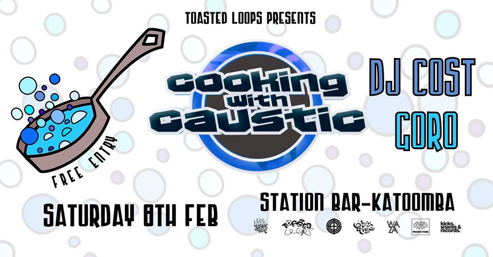 Cooking with Caustic, DJ Cost & Goro | Station Bar + Woodfired Pizza