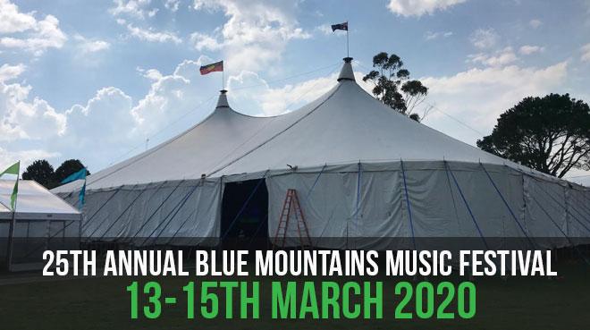 25th Annual Blue Mountains Music Festival   13-15th March 2020