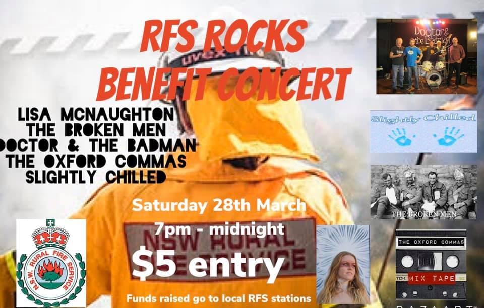 RFS Rocks – Benefit Concert   Lawson Bowling Club