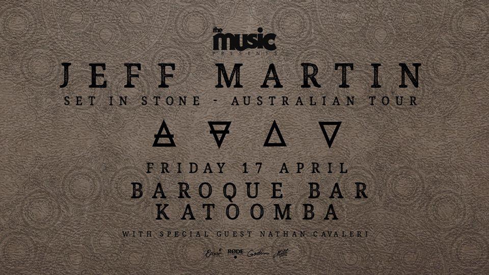 Jeff Martin – Baroque Bar – Set in Stone Australian Tour | The Carrington Hotel