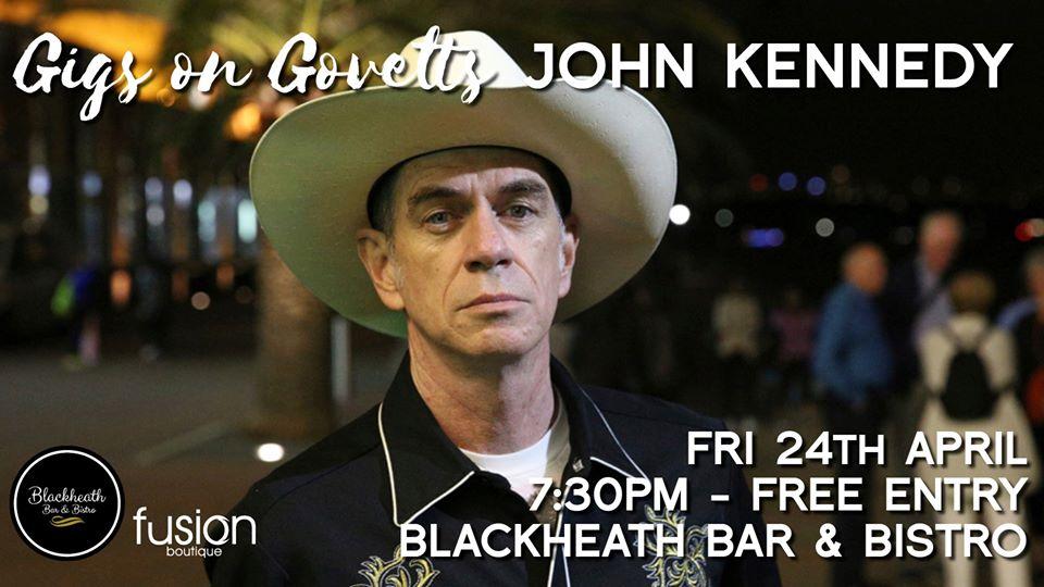 Postponed – Gigs on Govetts – John Kennedy Solo (Sydney) | Blackheath Bar & Bistro