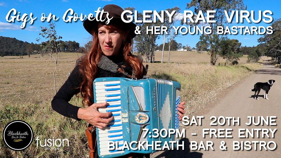 Gigs on Govetts – Gleny Rae Virus & Her Young Bastards   Blackheath Bar & Bistro