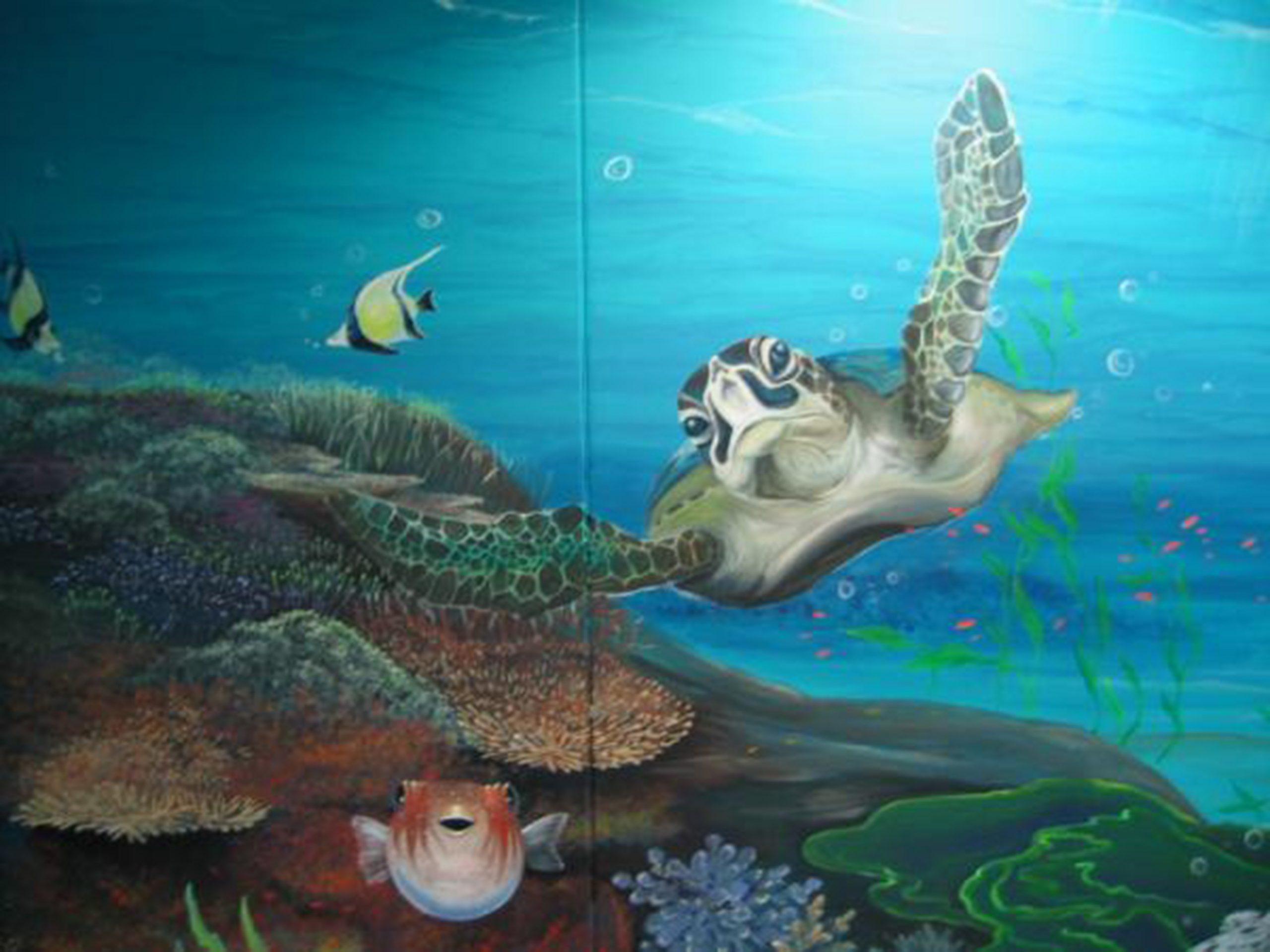 turtle-mural